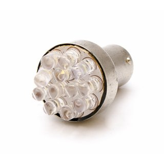 LED BA15S, gelb, 12 LEDs