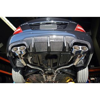 MERCEDES Benz W204 C63 Facelift (MOPF) TMS Style Diffusor, Carbon